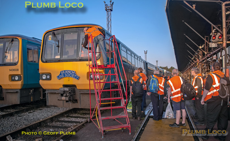 """BLS """"Cardiff Valleys Pacer Farewell"""", 143 605, 18 Road, Canton Depot, 6th October 2019"""
