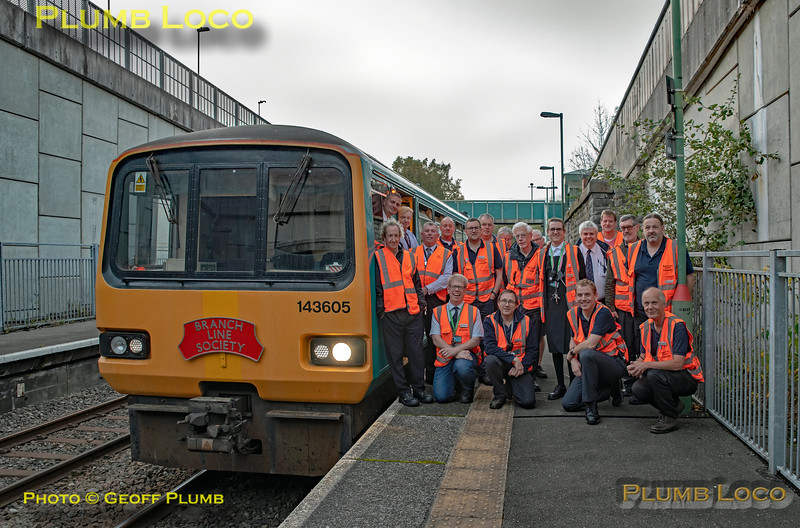 """BLS """"Cardiff Valleys Pacer Farewell"""", Tour Group, Bargoed, 6th October 2019"""