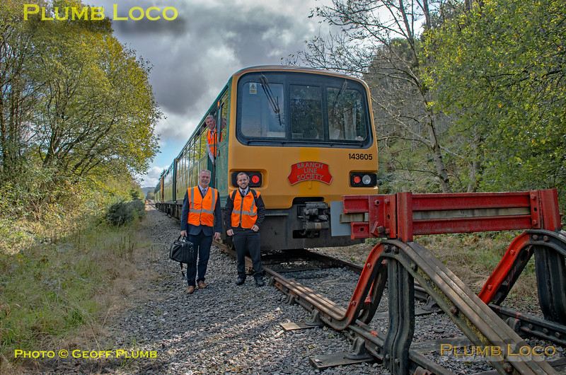 "BLS ""Cardiff Valleys Pacer Farewell"", 143 605 & TfW Crew, Treherbert Shunt Neck, 6th October 2019"