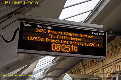 "BLS ""Cliffe Hopper"", Crewe Display Board, 7th October 2016"