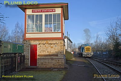 03073, BLS Trip, Crewe Heritage Centre, Crewe Station A Signal Box, 25th March 2018
