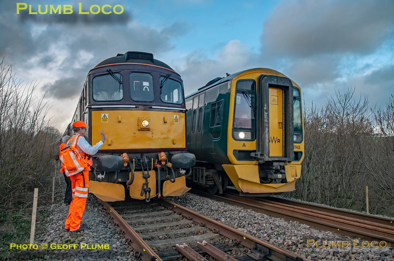 """BLS """"Devonian Crompton"""", 33207 & 158 745, Coleford Junction, 8th March 2020"""
