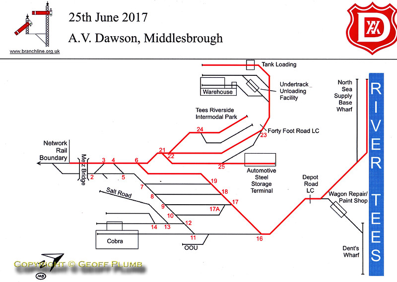 A.V. Dawson, Map of Rail Operations