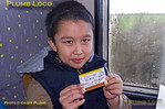 Young Passenger & Ticket! EDF Tracker Tour, 1Z23, 23rd January 2016