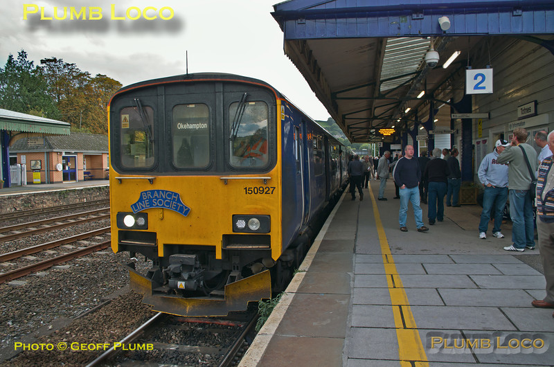 150 927, FGW Tracker Tour II, Totnes, 2Z12, 12th October 2013