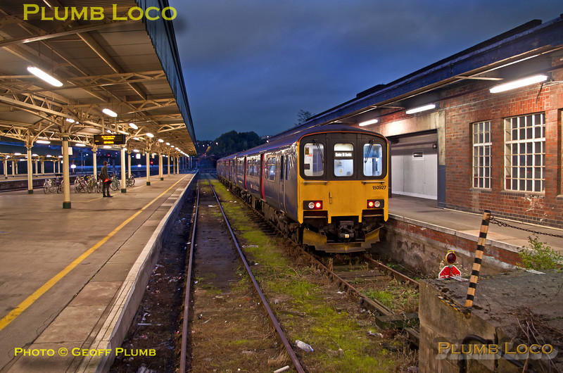 150 927, FGW Tracker Tour II, Bristol Temple Meads, Dock 1, 12th October 2013