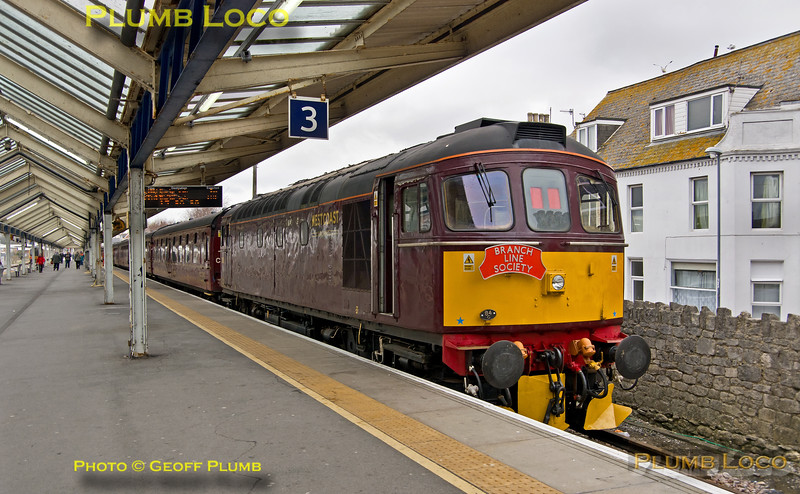 "BLS ""Marching Crompton II"", 33029, Weymouth Platform 3, 23rd March 2019"