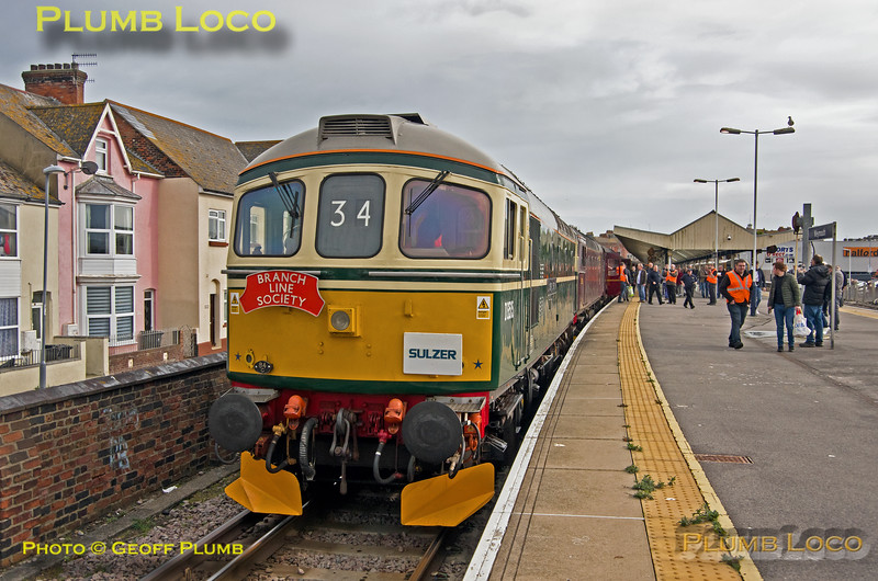 "BLS ""Marching Crompton II"", D6515, Weymouth Platform 3, 23rd March 2019"