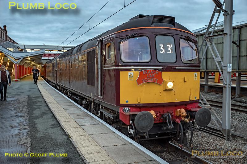 """33029 & 33207, BLS """"Marching Crompton"""", Crewe Platform 12, 27th August 2018"""