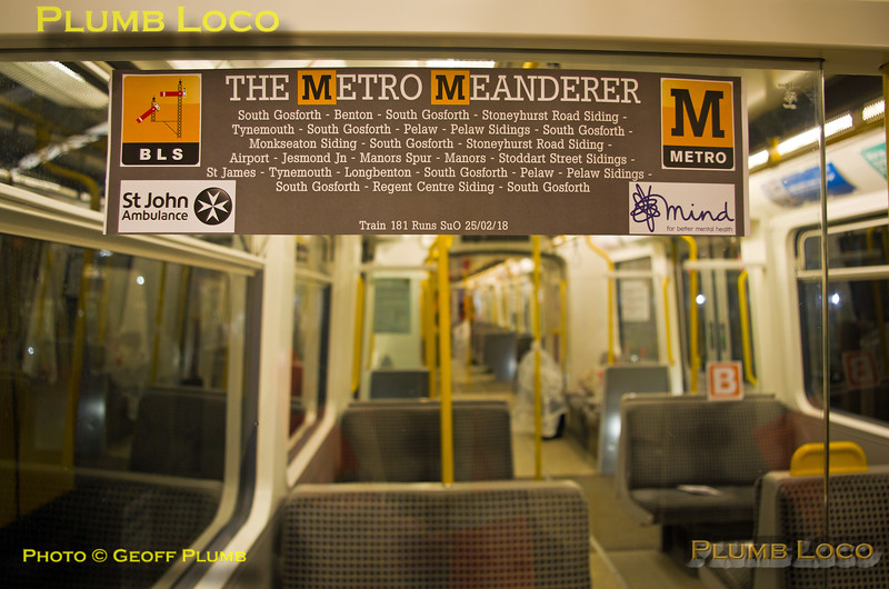 "BLS ""Metro Meanderer"", Window Decal, Gosforth, 25th February 2018"