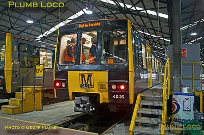 "Metro No. 4046, BLS ""Metro Meanderer"", Gosforth Depot, 25th February 2018"