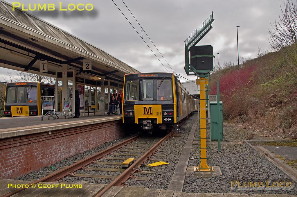 "Metrocar 4060, BLS ""Metro Meanderer"", Airport Platform 2, 25th February 2018"