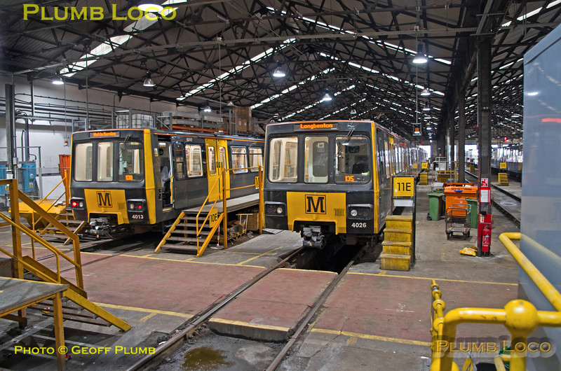 "BLS ""Metro Meanderer"", Metrocars 4013 & 4026, Gosforth Depot, 25th February 2018"