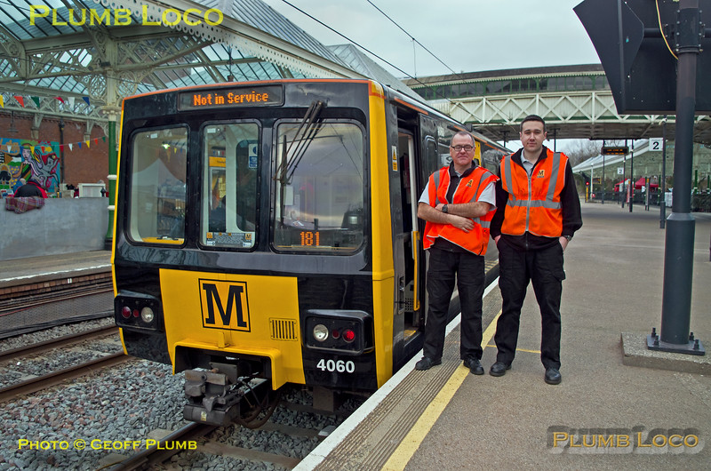 "Met 4060, BLS ""Metro Meanderer"", Metro Drivers, Tynemouth Platform 2, 25th February 2018"