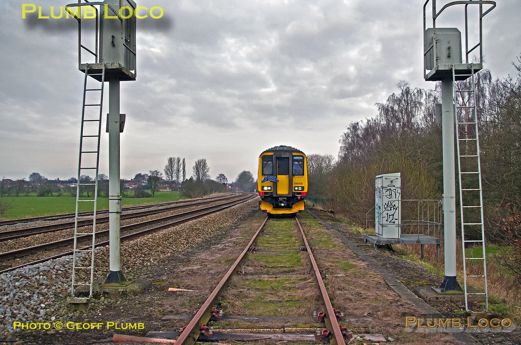 156 413, NM Tracker, Caverswall Up Goods, 1Z56, 27th February 2016