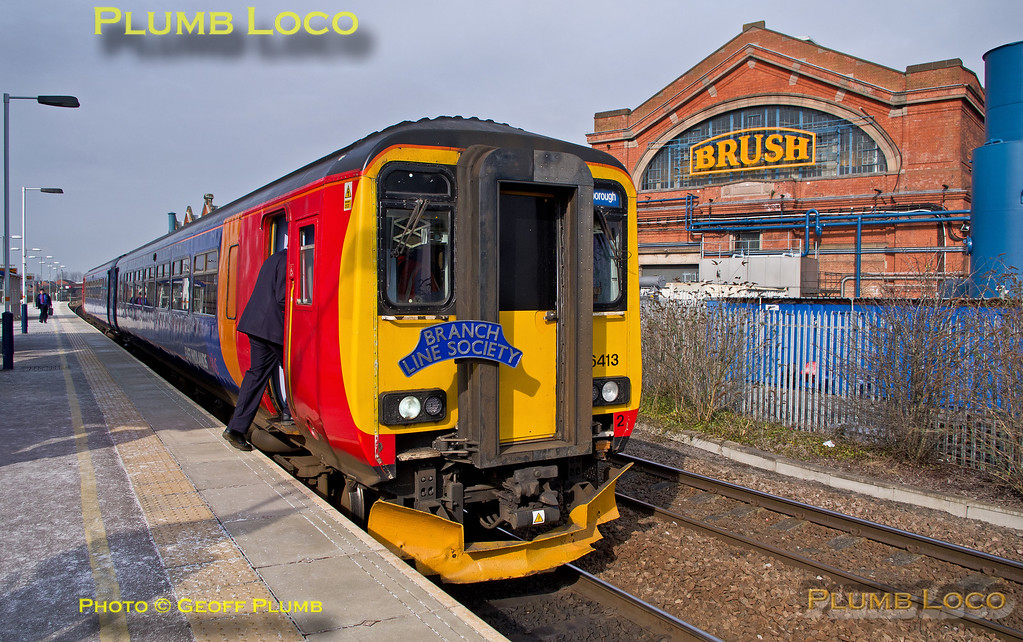 "156 413,  BLS ""North Midlands Tracker"", Loughborough Platform 3, 1Z56, 27th February 2016"