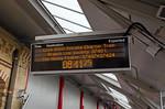 """BLS """"Nosey Peaker"""", PIS Display, Crewe Platform 12, 14th June 2018"""