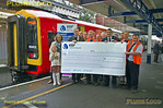 159 103, BLS RBF Tracker + South West Trains, Cheque Presentation Group, Southampton Central, 7th November 2015