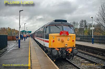 "BLS ""Roundhouse Rotator"", 47828,  Chesterfield Platform 2, 17th November 2019"