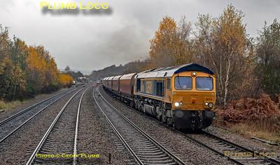 "BLS ""Roundhouse Rotator"", PoV 47828, 66714, Chesterfield, 17th November 2019"