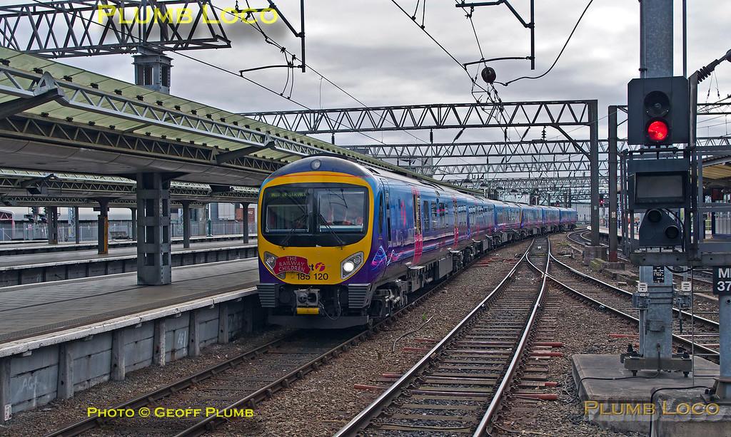 185 120 + 185 151, S&C Desiro Tracker, Manchester Piccadilly Platform 9, 5Z85_19th April 2015