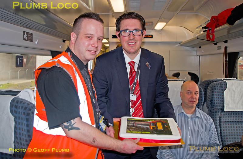 Southern Class 442 Farewell, Commemorative Cake, Matt Dodd & Antony Yandell, 12th March 2017