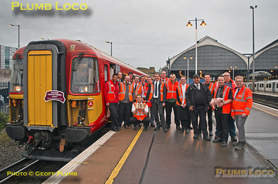 """BLS """"Southern Class 442 Farewell"""", Group Shot, Brighton, 12th March 2017"""