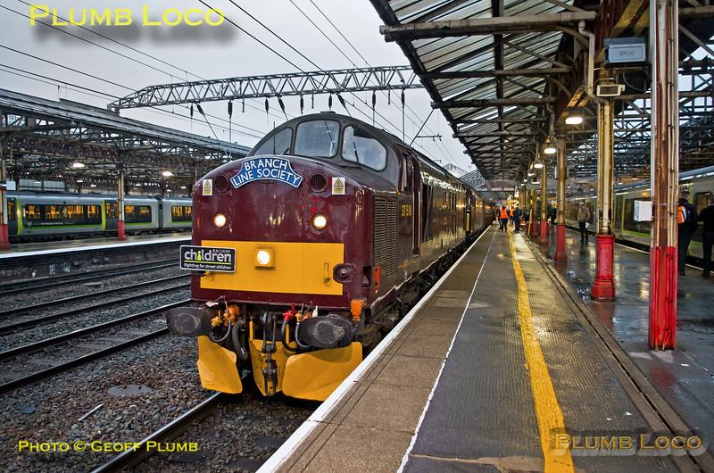 "37518 & 33025, BLS ""Sussex Salopian"", Crewe Platform 5, 1Z23, 24th March 2018"