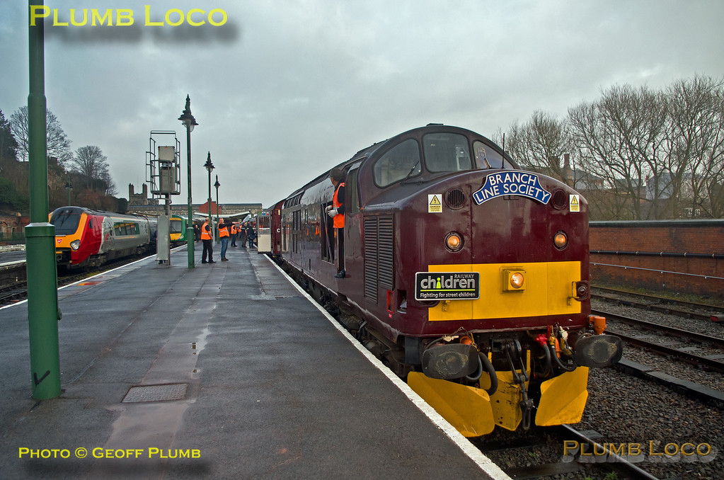 "37518, BLS ""Sussex Salopian"", Shrewsbury Platform 7, 1Z23, 24th March 2018"