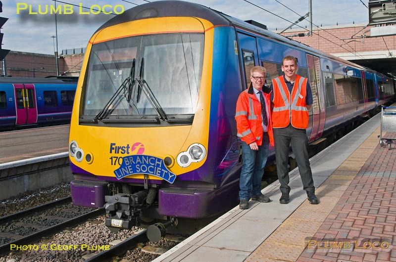 170 303, BLS 170 Farewell, BLS stewards, Manchester Airport, 1Z70, 3rd July 2016