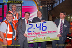 TPE Clyde Race Tracker, Time Group Shot, Manchester Piccadilly, 26th April 2014