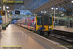 350 410, TPE Clyde Race Tracker, Manchester Piccadilly, Platform 9, 1Z52, 26th April 2014
