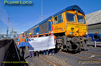66755, BLS Tale of Two Ports, Charity Cheque, Tyne Dock, 29th August 2016