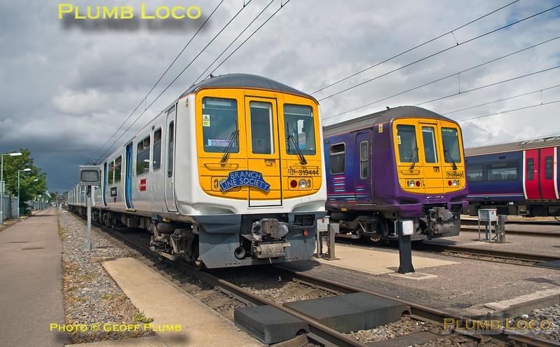 "319 444, BLS ""Thameslink Tracker"", Bedford Cauldwell EMUD, 1Z19, 12th July 2015"