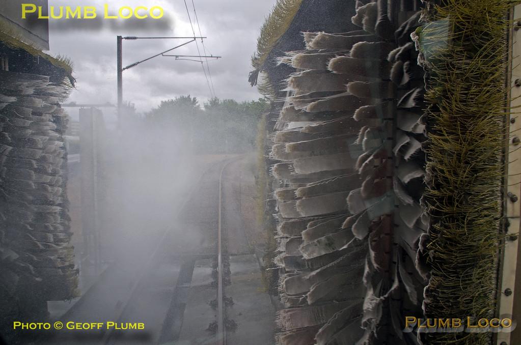 "PoV 319 444, BLS ""Thameslink Tracker"", Bedford CS, Washer Road, 1Z19, 12th July 2015"
