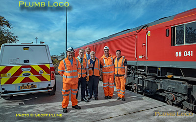 "BLS ""The Breckland Freighter"", 66041, Tour Group at Norwich Riverside Freight Depot, 14th September 2019"