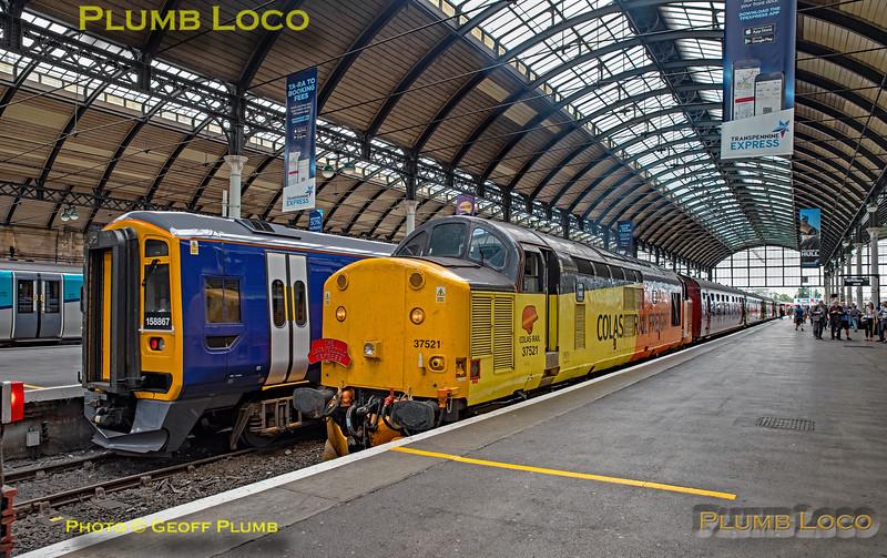 "BLS ""The Luca Pezzulo Express"", 37521, Hull Paragon Platform 7, 20th July 2019"