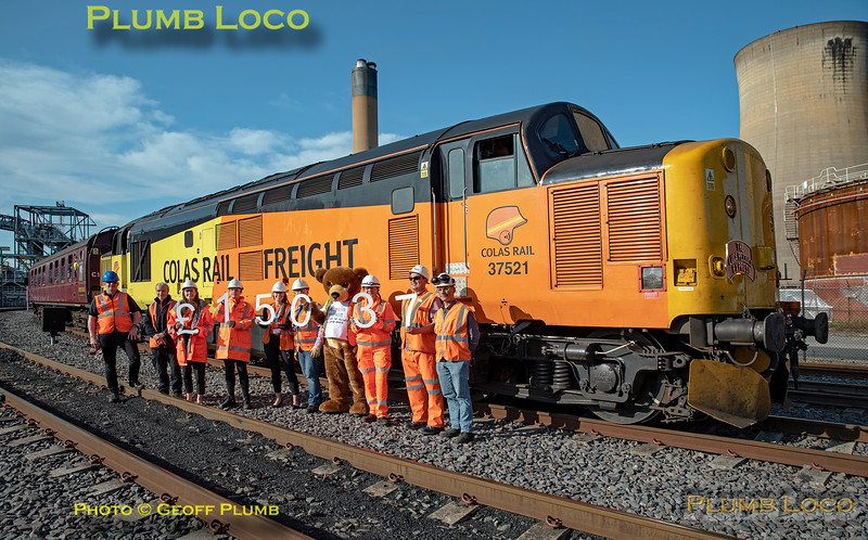 """BLS """"The Luca Pezzulo Express"""", 37521 & Presentation Group, Drax, 20th July 2019"""