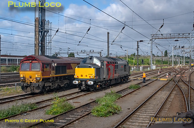 """BLS """"Type 3 to the Sea"""", PoV 37669, 66106 & 37608, Wembley Yard, 10th August 2019"""