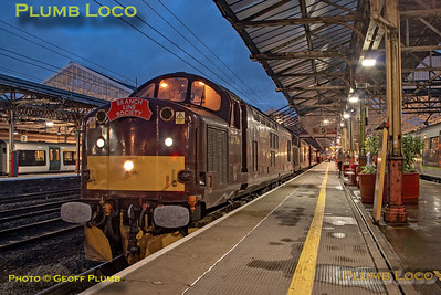 """BLS """"Type 3 to the Sea"""", 37706, Crewe Platform 5, 10th August 2019"""