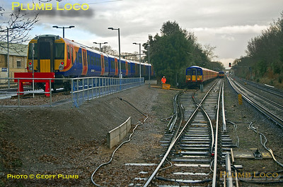 "PoV 455 870, BLS ""Vossloh Voyager"", Strawberry Hill Depot, 14th January 2017"
