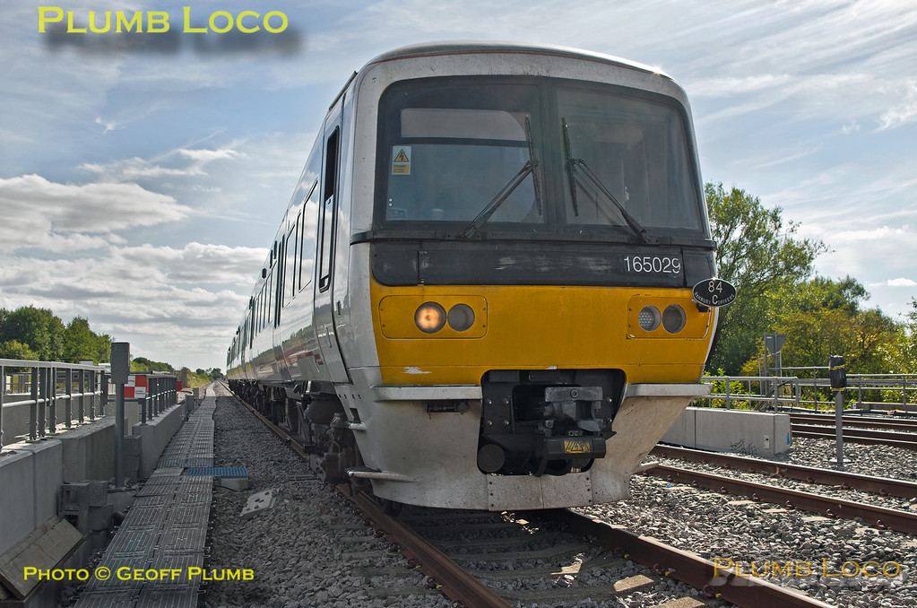 165 029, Wycombe Wanderer, Bicester Depot Run Round, 13th August 2016
