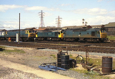 On Sunday 15/7/84 Barrow carriage sidings was home to 25257 + 25322 waiting to work a return charter from Grange to Weston Super Mare, and 47205 which would work the 21.50 to Crewe.