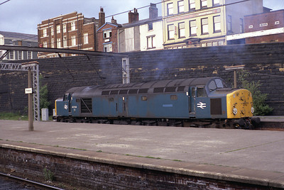 40104 stands at Preston in 1984.