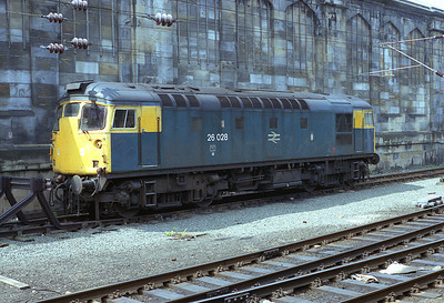 26028 was stabled adjacent to Carlisle station on 25/5/87.