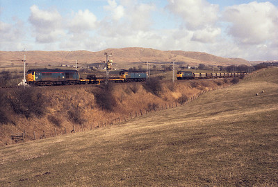 Sunday engineering work at Lambrigg 15/3/87 with 31445, 47314 and another 47.