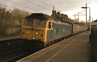 47475 stands at Oxenholme with a control relief 30/3/88.