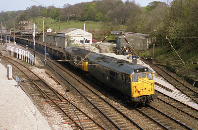 On Sunday 24/4/88 31225+31312 pass Oxenholme with a spoil train.