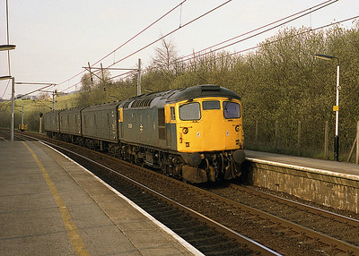 Regularly 26 hauled was the Wednesdays only Carlisle-Preston vans, seen passing Oxenholme on 13/4/88 with 26029.