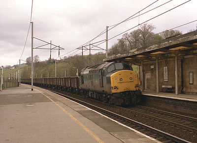 37198 passes Oxenholme with a spoil train on Sunday 17/4/88.